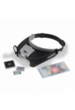 LED-Kopfbandlupe Fokus mit 1.5 bis 8-f..