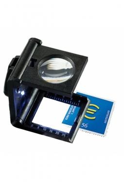 Fadenzähler, 5-fache Vergrößerung, mit LED