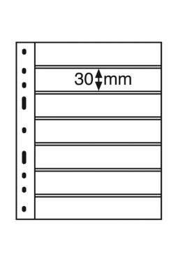 Kunststoffhüllen OPTIMA, 7er Einteilung, schwarz, 10er Pack